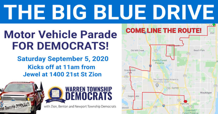 September 5th – The BIG BLUE DRIVE IN SUPPORT OF DEMOCRATS!