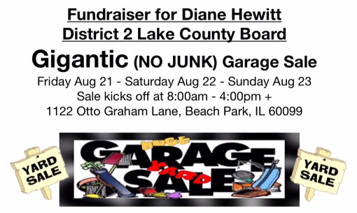 Reminder: Garage Sale in Support of Diane Hewitt Friday!